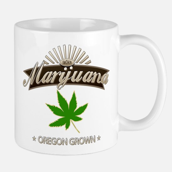 Smoking Oregon Grown Marijuana Mug