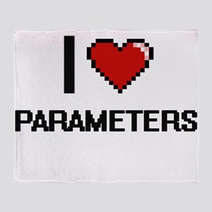 I Love Parameters Throw Blanket