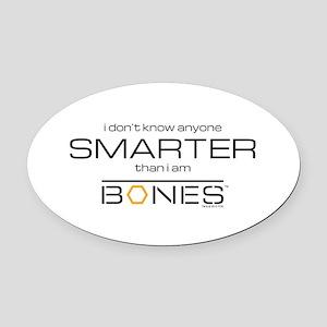 Bones Smarter Oval Car Magnet