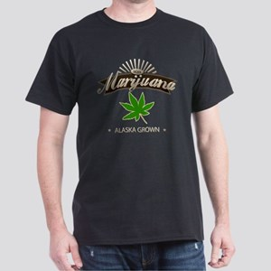 Smoking Alaska Grown Marijuana Dark T-Shirt