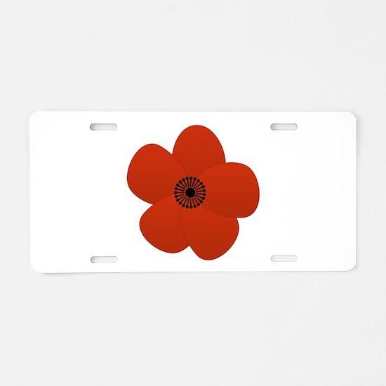 Bright Anemone Flower Aluminum License Plate