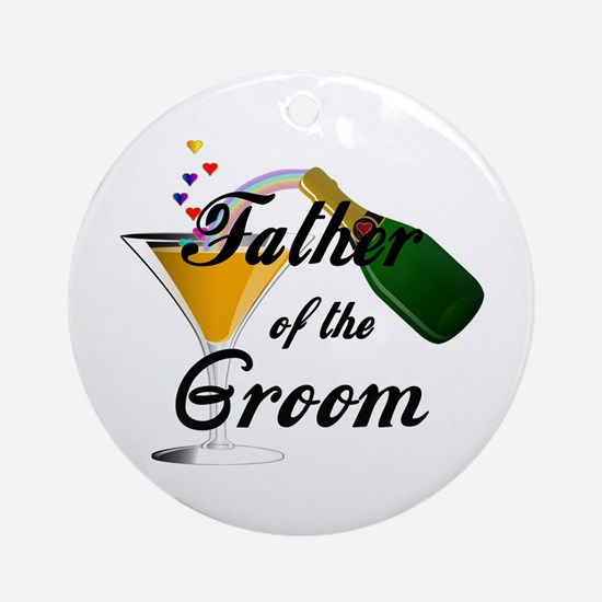 Wedding Toast Father of the Groom Round Ornament