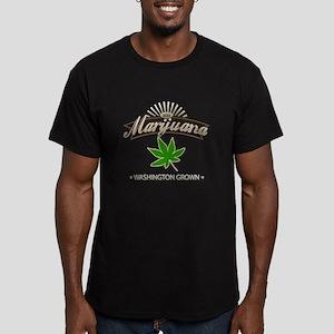 Smoking Washington Gro Men's Fitted T-Shirt (dark)