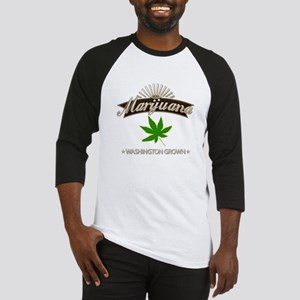 Smoking Washington Grown Marijuana Baseball Jersey