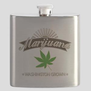 Smoking Washington Grown Marijuana Flask