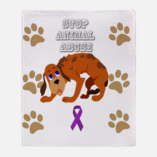Cute Animal cruelty Throw Blanket
