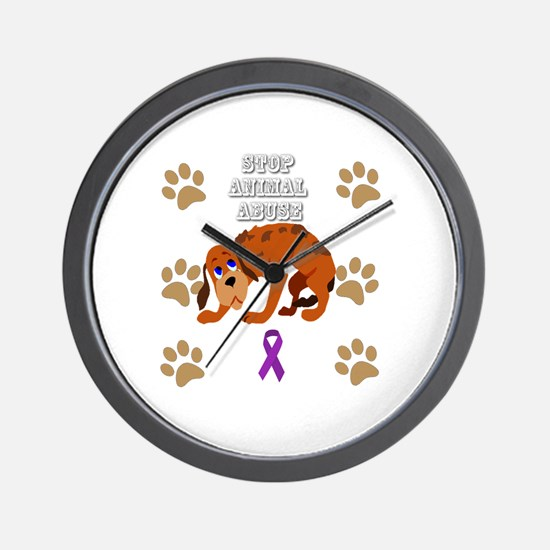 Unique Animal abuse Wall Clock