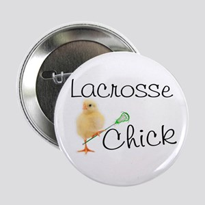 "Lacrosse Chick 2.25"" Button (10 pack)"