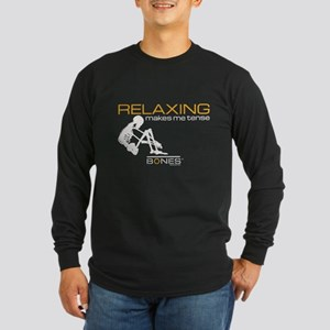 Bones Relaxing Long Sleeve Dark T-Shirt
