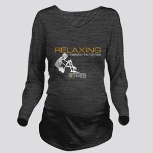 Bones Relaxing Long Sleeve Maternity T-Shirt