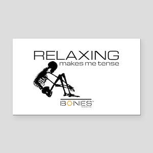 Bones Relaxing Rectangle Car Magnet