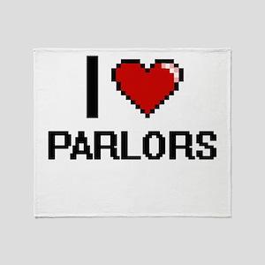 I Love Parlors Throw Blanket