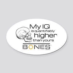 Bones IQ Oval Car Magnet