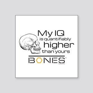 "Bones IQ Square Sticker 3"" x 3"""