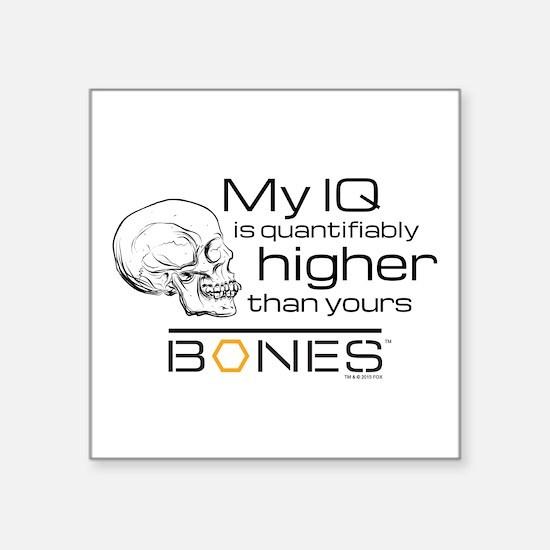 "Bones IQ Square Sticker 3"" x 3"""