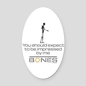 Bones Impressed Oval Car Magnet