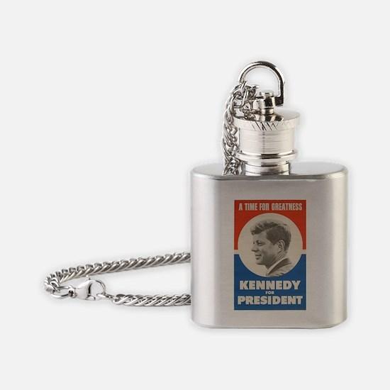 Cute Uss john f kennedy Flask Necklace