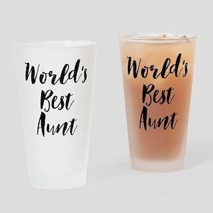 World's Best Aunt Drinking Glass