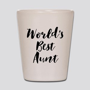 World's Best Aunt Shot Glass