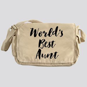 World's Best Aunt Messenger Bag