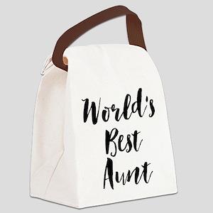World's Best Aunt Canvas Lunch Bag
