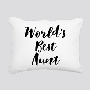 World's Best Aunt Rectangular Canvas Pillow