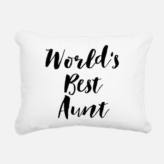 World's Best Aunt Rectangular Canvas Pillow