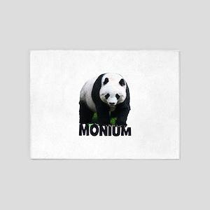 PANDA-MONIUM 5'x7'Area Rug