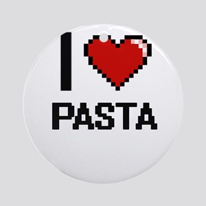 I Love Pasta Round Ornament