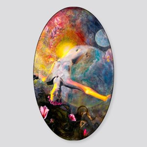 Gaia- Mother Goddess Oval Sticker