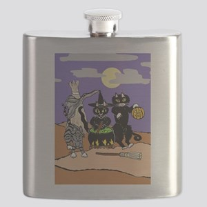 Happy Yowl-oween Flask
