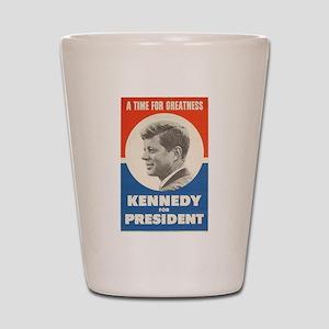 John F. Kennedy Shot Glass
