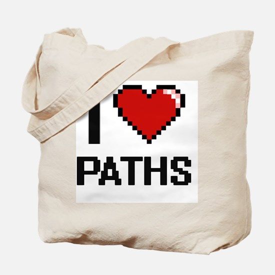 I Love Paths Tote Bag