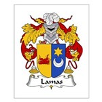 Lamas Family Crest Small Poster