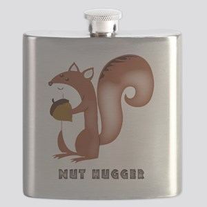squirrel, wildlife, nut, nut hugger, tree ne Flask