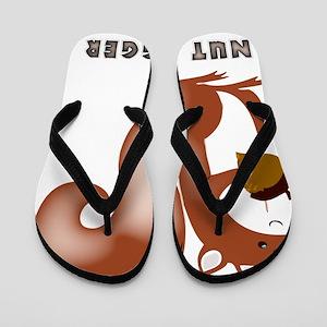 squirrel, wildlife, nut, nut hugger, tr Flip Flops