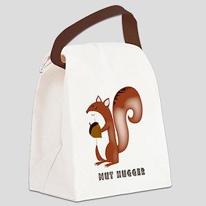 squirrel, wildlife, nut, nut hugg Canvas Lunch Bag
