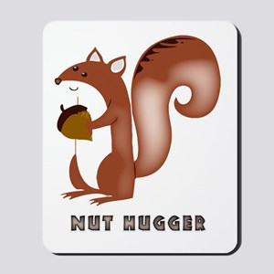 squirrel, wildlife, nut, nut hugger, tre Mousepad