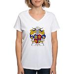 Lama Family Crest Women's V-Neck T-Shirt