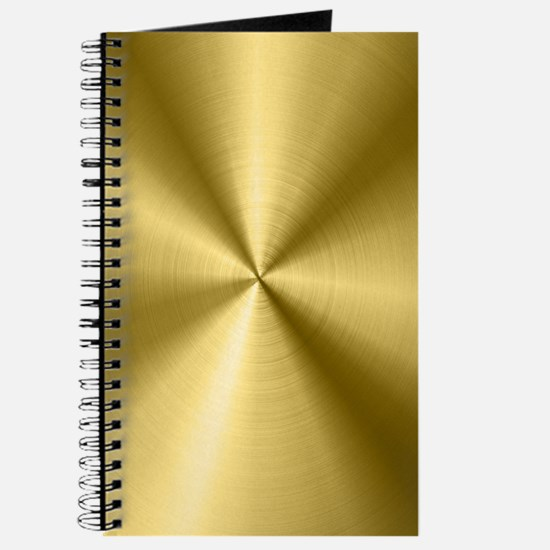 Metallic Faux Gold Stainless Steel Look Journal