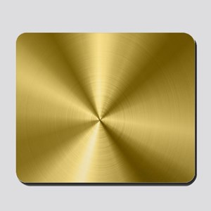 Metallic Faux Gold Stainless Steel Look Mousepad