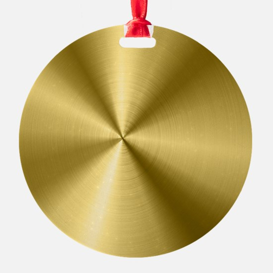 Metallic Faux Gold Stainless Steel Ornament