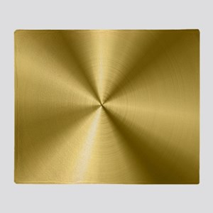 Metallic Faux Gold Stainless Steel L Throw Blanket
