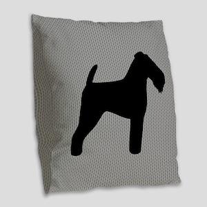 Welsh Terrier Burlap Throw Pillow