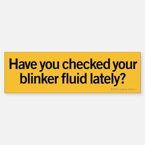 Blinker Fluid Sticker (Bumper)