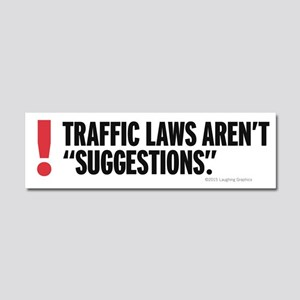 Traffic Laws Car Magnet 10 x 3