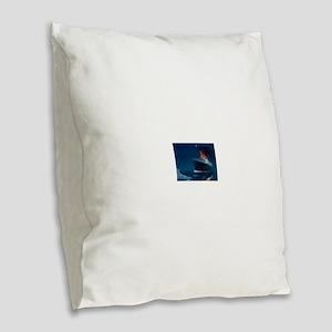 Titanic Burlap Throw Pillow