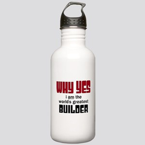 Worlds Greatest Builde Stainless Water Bottle 1.0L