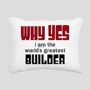 Worlds Greatest Builder Rectangular Canvas Pillow