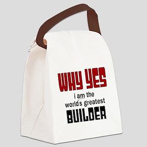 Worlds Greatest Builder Canvas Lunch Bag